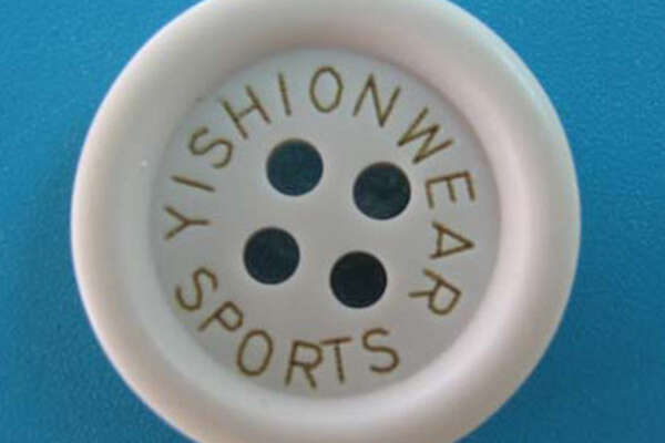 Лазерная маркировка на пластиковой пуговице