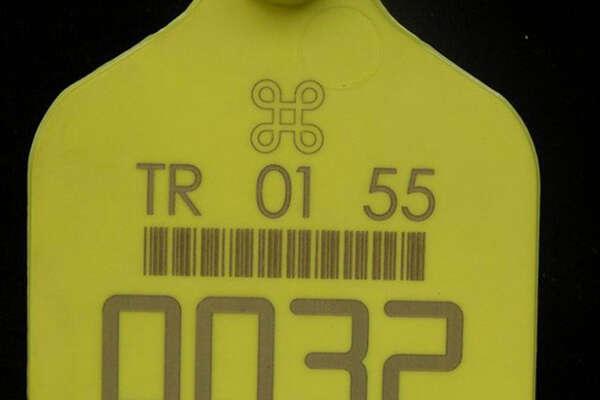Лазерная маркировка на пластиковой этикетке